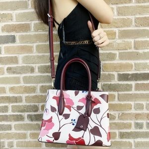 Kate Spade nouveau bloom top zip satchel